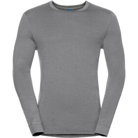 Odlo Natural 100% Merino Warm Crew Neck LS Shirt Men grey melange-black